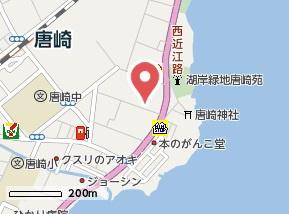 【地図】リベルタ唐崎
