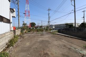敷地の西側から東側へ撮影した物件からの展望です。2019年11月2日 10:45頃撮影。