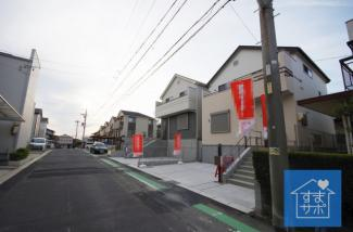 2号棟 現地(2019年4月)撮影 前面道路は南側約6.0mの公道。