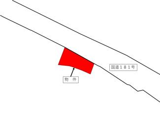 【土地図】真庭市中原 売土地85坪