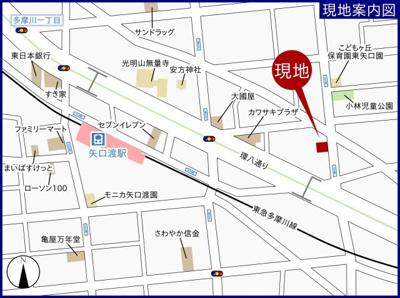 【地図】E-HOUSE第四ビル