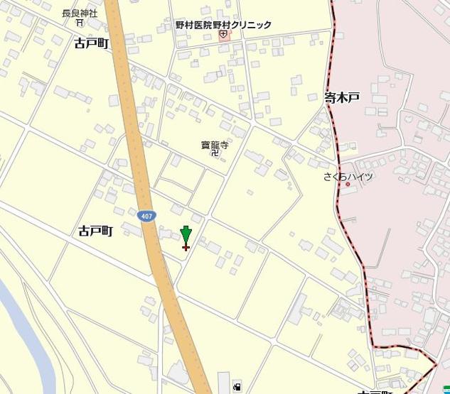 【地図】太田市古戸町売地