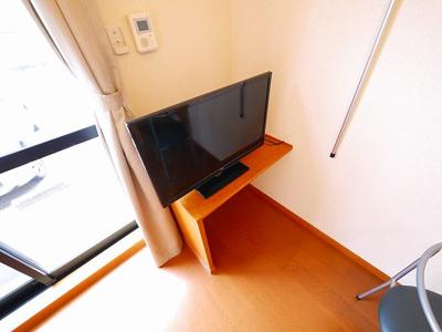 テレビもついてます。