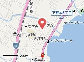 【地図】LUCE比叡
