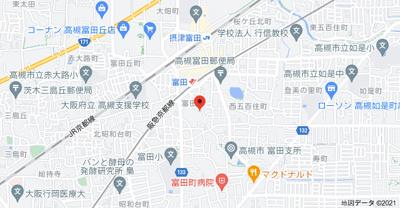 【地図】ラビスタ暁 (株)Roots