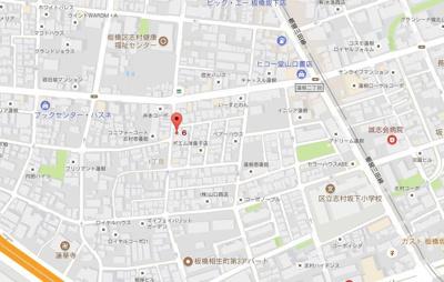 【地図】ライブカーサ板橋蓮根