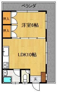 2階角部屋★2面ベランダ★ベランダからイオン那覇や琉球銀行金城支店が見えます。