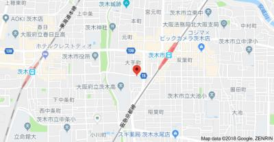 【地図】リバーフィールド茨木