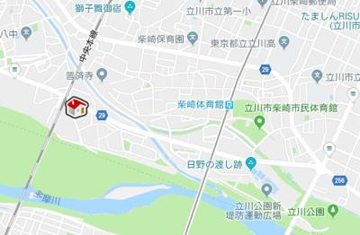【地図】レオパレスメルベージュ(34832-101)