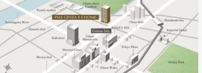 【地図】ピアース銀座8丁目