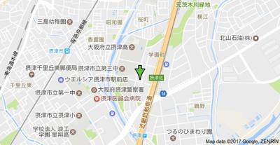 【地図】フェルティ摂津