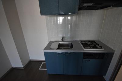 ガスコンロ2口のキッチンです