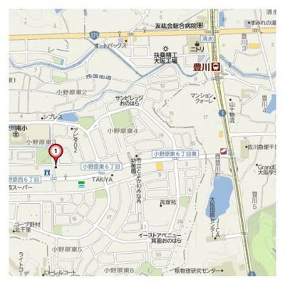 【地図】ヴィラプレフェール1