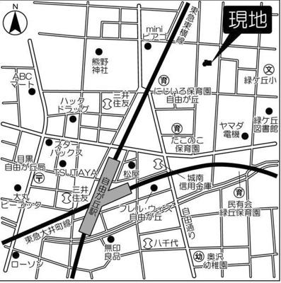 【地図】ヴェルデ自由が丘