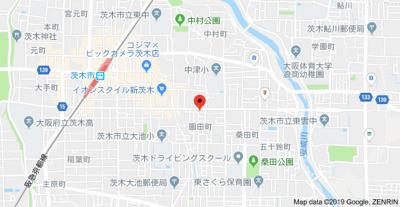 【地図】園田町中村貸家