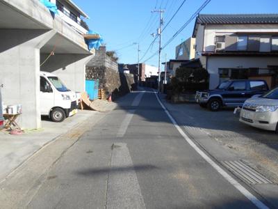 【前面道路含む現地写真】高知市長尾山町分譲地