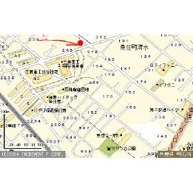 【地図】第2ハイツ梅田
