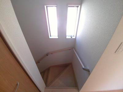 手すり付き階段