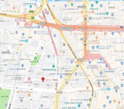 【地図】エスリード難波