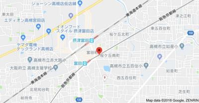 【地図】プランソレイユ スモッティー阪急高槻店