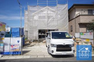 1号棟 室内(2019年3月)撮影 上棟しました! 敷地面積139.54㎡(42.21坪)。 駐車並列2台可能。