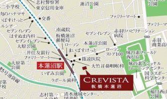【地図】クレヴィスタ板橋本蓮沼