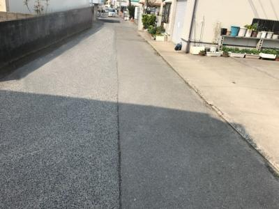 【前面道路含む現地写真】【売地】有功中学校区・56500