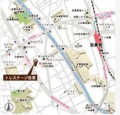 【地図】トレステージ目黒