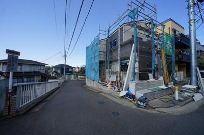 【前面道路含む現地写真】保土ヶ谷区瀬戸ケ谷町全2棟 新築戸建【成約】
