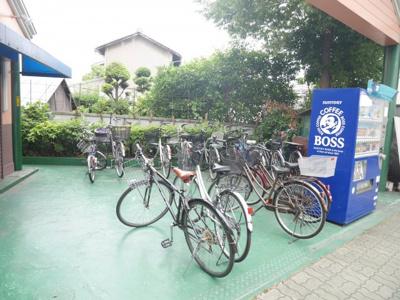 バイクも駐車可能!