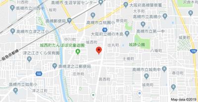【地図】コート摂津 (株)Roots