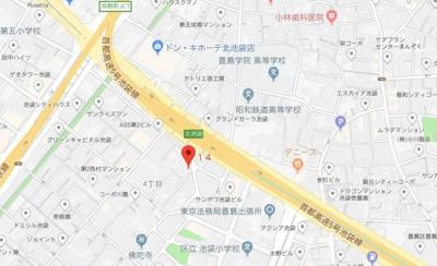 【地図】池袋YKマンション