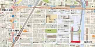 【地図】関目グリーンハイツB棟