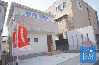 1号棟 現地(2019年3月)撮影 堂々完成しました!即入居可能♪ 敷地面積107.65㎡(32.56坪)。 駐車並列2台可能。