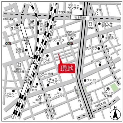 【地図】ビーピーアールレジデンス神田富山町【BPRレジデンス神田富山町】