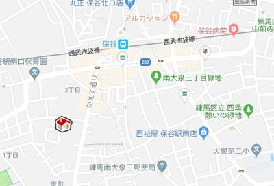 【地図】レオパレスホーヤ(36787-102)
