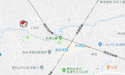 【地図】レオパレスコンステラション(41990-104)