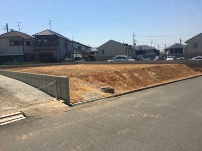 【前面道路含む現地写真】加古川市山手2丁目土地①号地