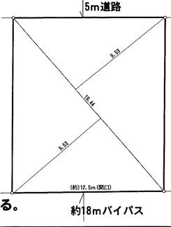 【土地図】坂戸市柳町 建築条件なし売地 「北坂戸駅」徒歩17分 敷地56坪