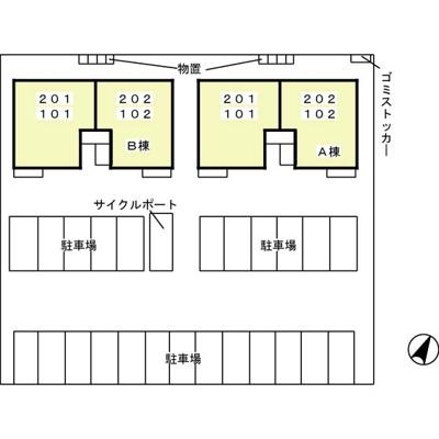 【地図】エスぺランサB