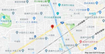 【地図】川西エンビイハイツ 株式会社Roots