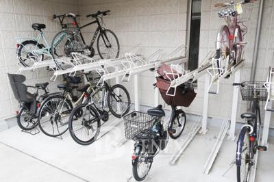 La Vita Feliceの駐輪場です