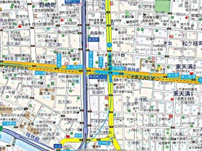【地図】南森町ロイヤルハイツ