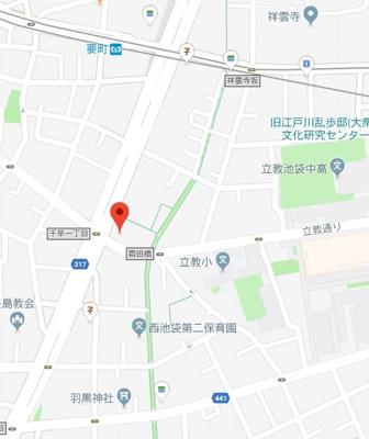 【地図】エステムプラザ池袋立教通り