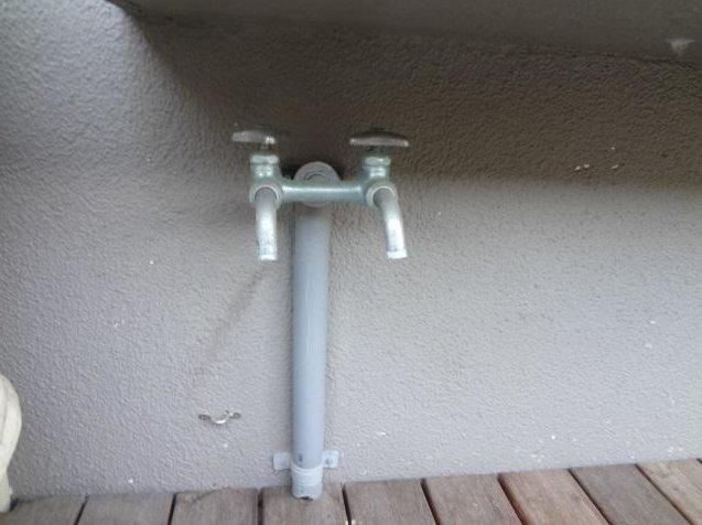 けっこう便利な外部水栓です
