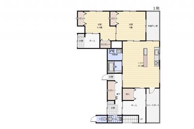 事務所棟1階 居住スペース