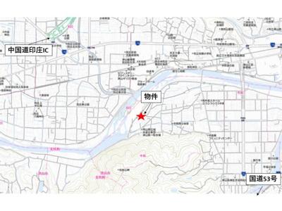 【地図】津山市中島 事務所・事業用地501坪
