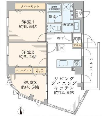 【居間・リビング】プレジャーガーデン木場弐番館 5階 リ ノベーション済 角 部屋