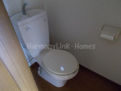 コーポ坂本の落ち着いた色調のトイレです☆