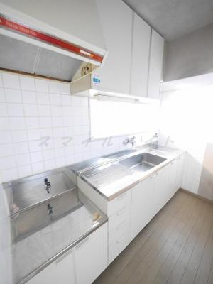 持ち込み型のコンロを設置するタイプのキッチンです。